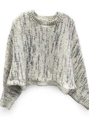 RD INTERNATIONAL RD Int'l Sweater Cropped Crew Neck w/ Wide Slv