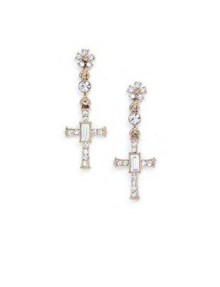 Lovers Tempo Lovers Tempo Earrings Crystal Cross