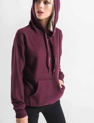 Others Follow Others Follow Sweater Skylar Hoodie w/ Velvet Drawstring
