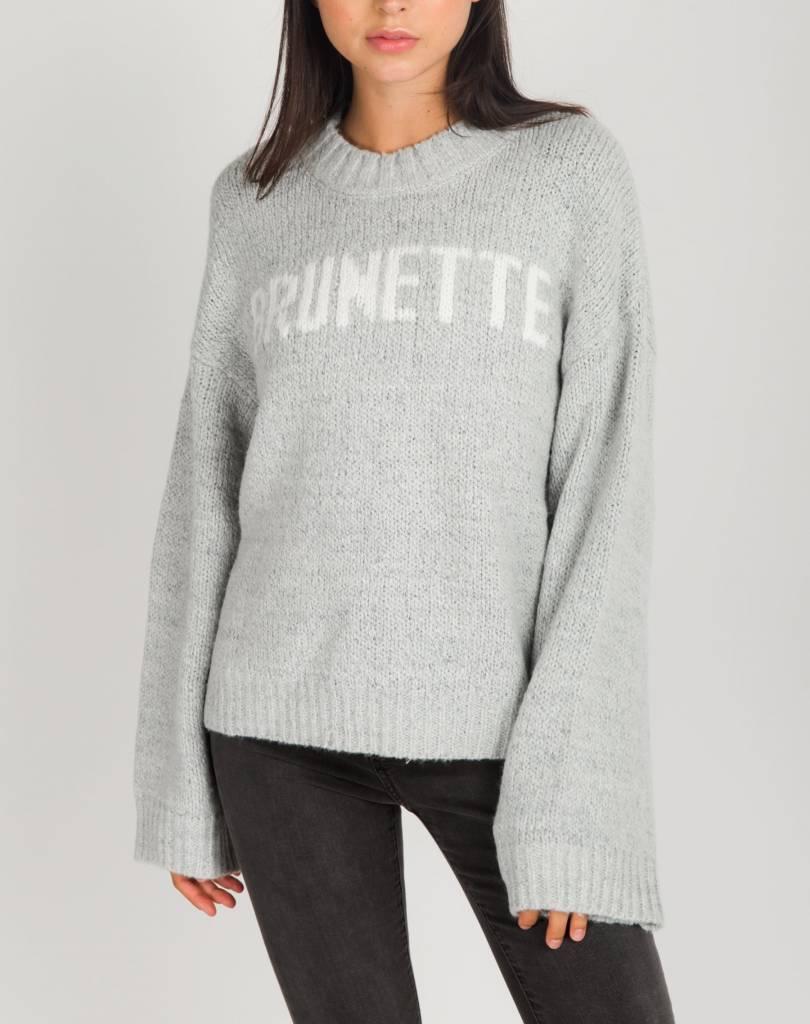 BRUNETTE Brunette Yes Girl Knitted Pullover Brunette