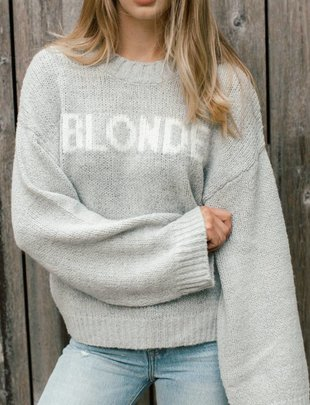 BRUNETTE Brunette Yes Girl Knitted Pullover Blonde