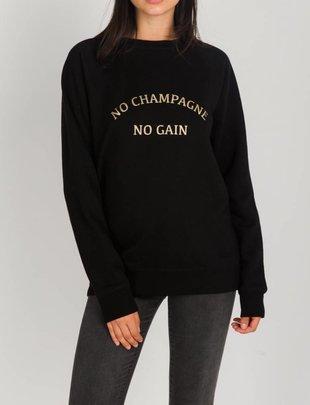BRUNETTE BRUNETTE Sweatshirt No Champagne No Gain