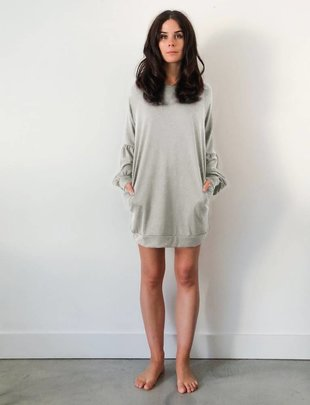 JACKSON ROWE Jackson Rowe Dress Dolman Sweater Dress Crew Neck w/ Puff Slv