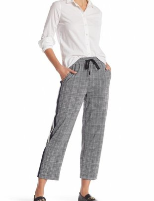 RD INTERNATIONAL RD Int'l Pants Elastic Waist & Double Pin Stripe