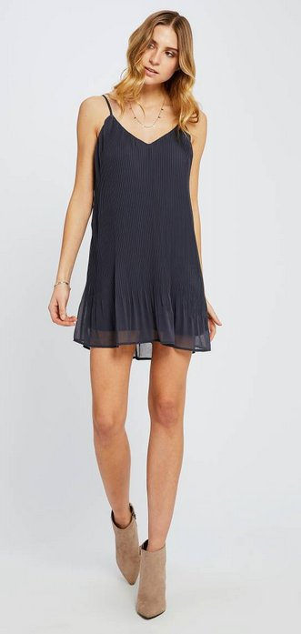 GENTLE FAWN Gentle Fawn Dress Yuna Slv/lss Pleated Mini