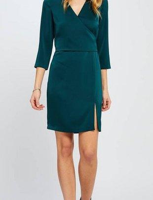GENTLE FAWN Gentle Fawn Dress Gwenyth 3/4 Slv Silk Wrap