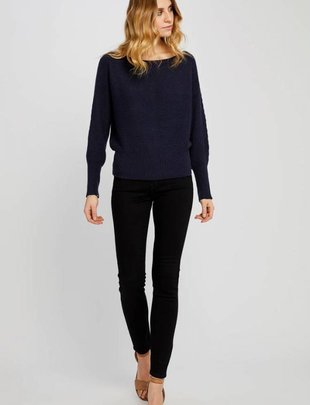 GENTLE FAWN Gentle Fawn Meredith Sweater Cropped Wide Neck Ribbed