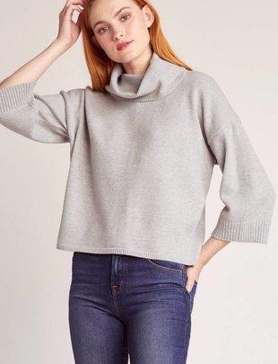 Jack JACK Sweater S/Slv Boxy Turtleneck