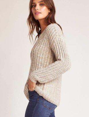Jack JACK Sweater Cable Knit V Neck