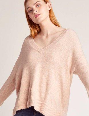 Jack JACK Sweater V Neck w/ Ribbed Edges