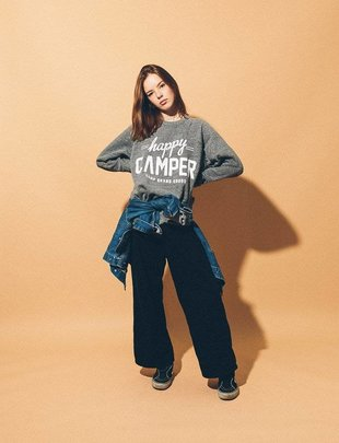 CAMP BRAND GOODS INC. Camp Brand Goods Happy Camper Crewneck