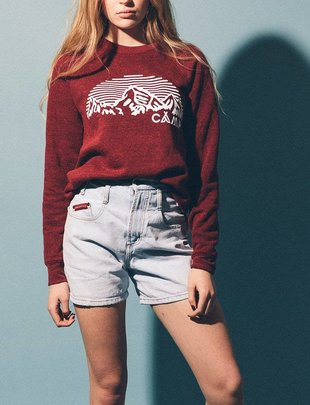 CAMP BRAND GOODS INC. Camp Brand Goods Mountain Arch Crewneck