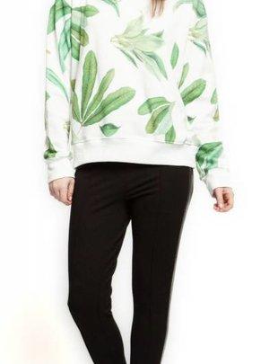 Black Tape Black Tape Sweater L/Slv Botanical Print