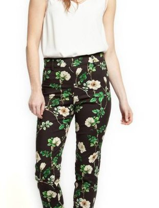 Black Tape Black Tape High Waisted Floral Dress Pant