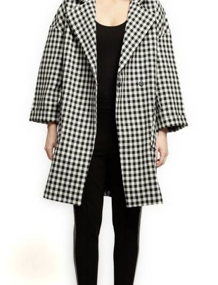 Black Tape Black Tape Wide Collar Checkered Jacket