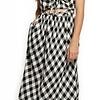 Dex Dress Midi W/ Tie Front