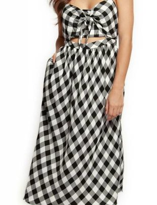 DEX Dex Dress Midi W/ Tie Front