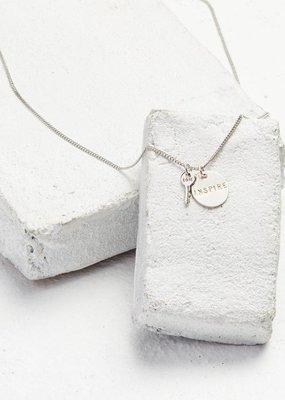 The Giving Keys The Giving Keys Disc Pendant + Mini Key Charm Necklace