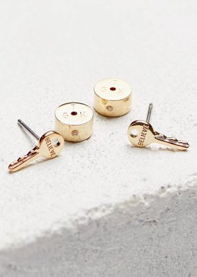 The Giving Keys The Giving Keys Mini Key Post Earrings