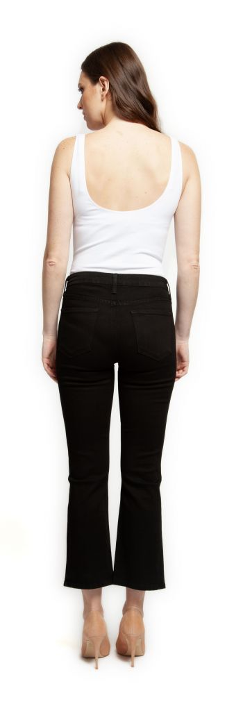 Black Tape Pants Light Denim Straight Leg w/ Front Seam