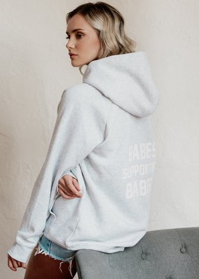 BRUNETTE BRUNETTE Babes Supporting Babes Big Sister Hoodie