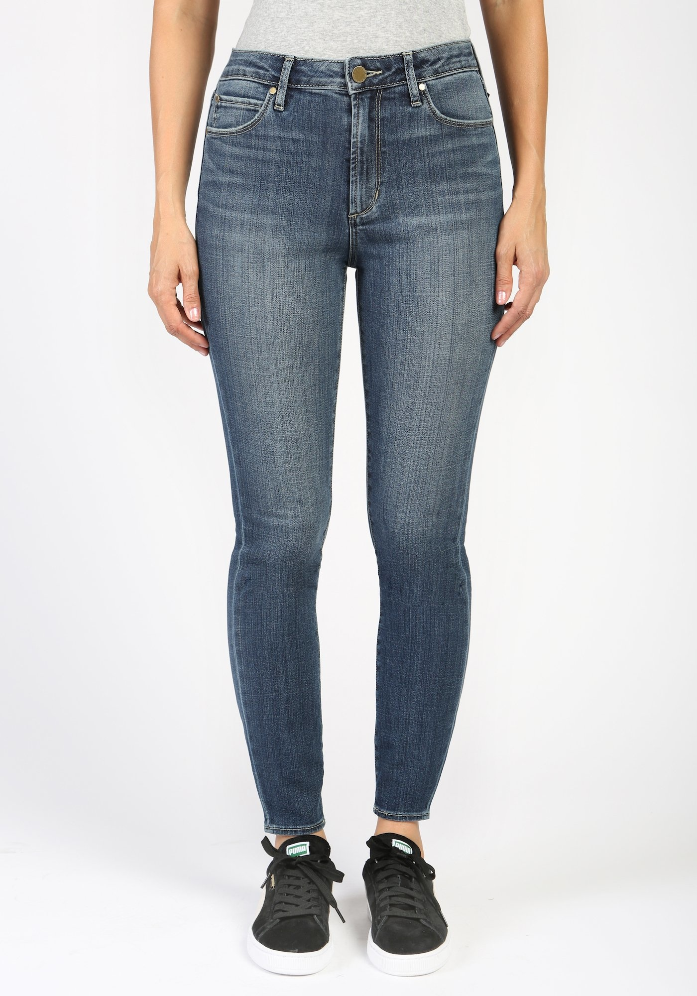 Articles of Society Heather High Rise Denim Crop