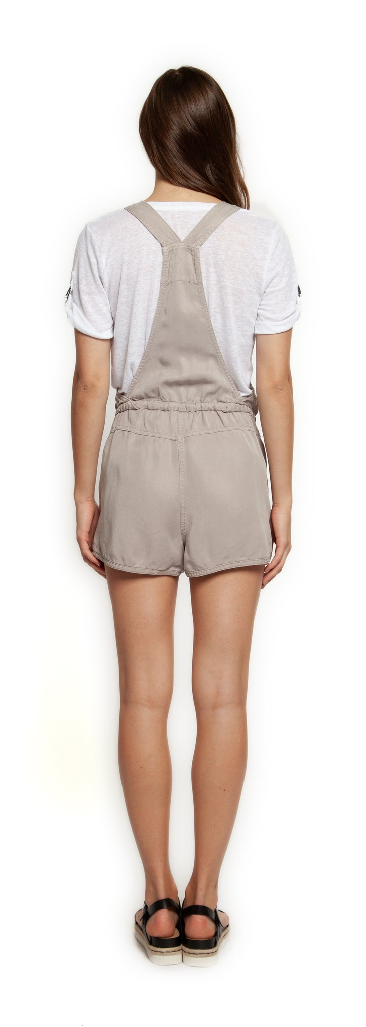 Dex Overalls Shorts w/ Waist Tie & Zipper Pockets