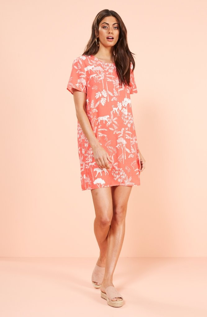 pink tee dress
