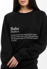 BRUNETTE BRUNETTE Sweatshirt Crew Babe Definition