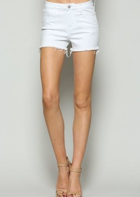 Vervet Denim Shorts High Rise Cut Off w/ Raw Hem