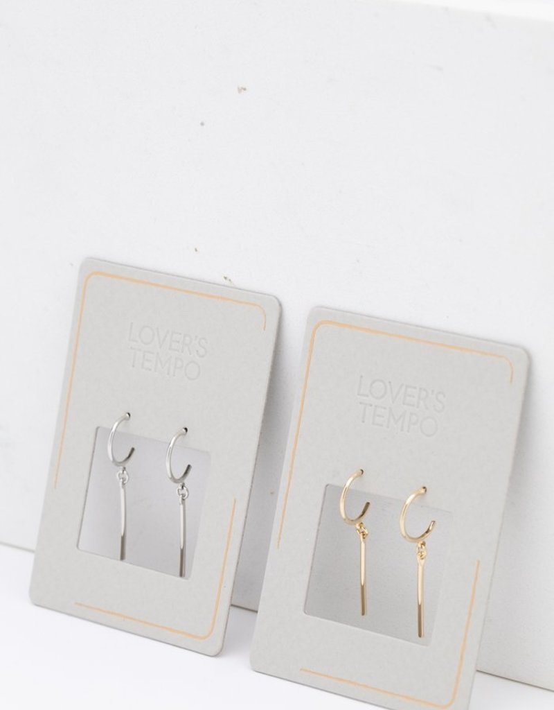 Lovers Tempo Lovers Tempo Earrings 1SP19010 Everly Bar Hoop