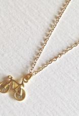 PIKA&BEAR Pika & Bear Necklace 'Fixie' Tiny Bicycle Pendant