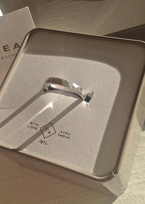 PIKA&BEAR Pika & Bear Ring 'Phaesto' Hammered Band Sterling Silver