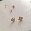 Pika & Bear Earrings 'Lasa' Opal/Rhinestone Stud