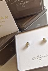 PIKA&BEAR Pika & Bear Earrings 'Chunk' Cube Stud