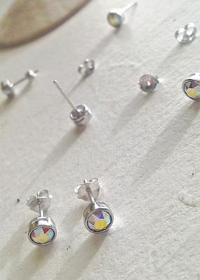 PIKA&BEAR Pika & Bear Earrings 'Solstice' Swarovski Crytal Stud