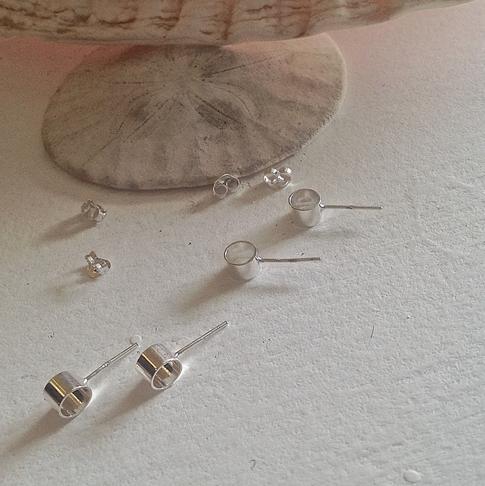 Pika & Bear Earrings 'Zero' Minimalist Open Ellipse Stud