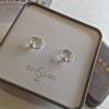 Pika & Bear Earrings 'Venn' Hoop w/ Ball Stud