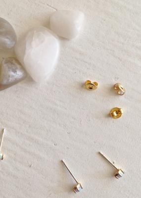 PIKA&BEAR Pika & Bear 'Tiny Dancer' Fire Opal Stud Earrings