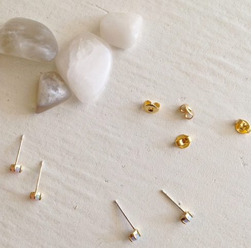 Pika & Bear 'Tiny Dancer' Fire Opal Stud Earrings