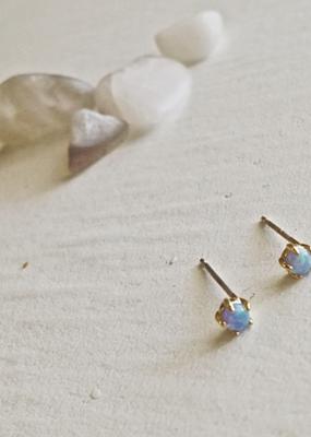 PIKA&BEAR Pika & Bear 'Tiny Dancer' Ocean Opal Stud Earrings