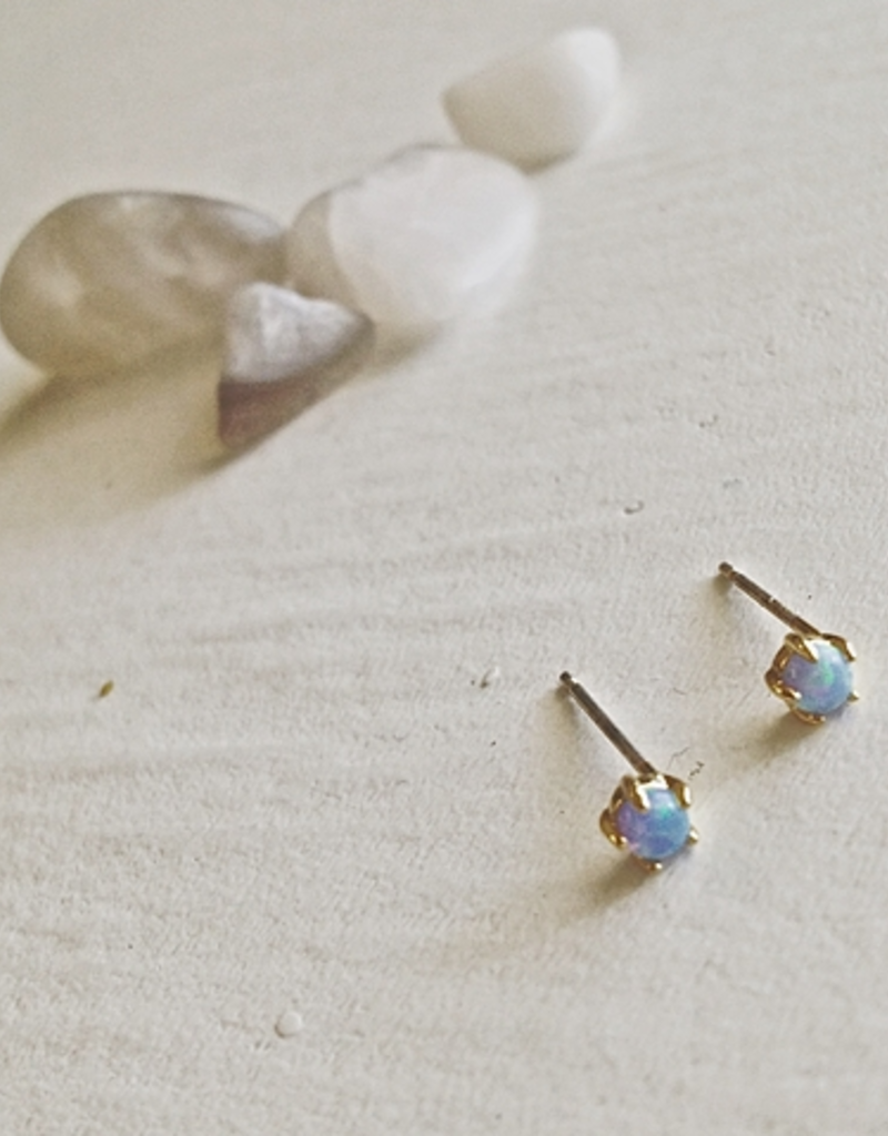 PIKA&BEAR Pika & Bear 'Tiny Dancer' Ocean Opal Stud Earrings