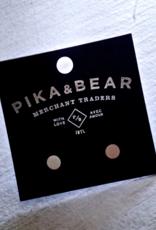 PIKA&BEAR Pika & Bear Earrings 'Cylin' Minimalistic Stud