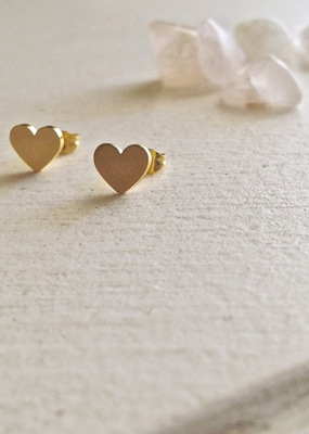 PIKA&BEAR Pika & Bear Earrings 'Total Eclipse of the Heart' Heart Stud