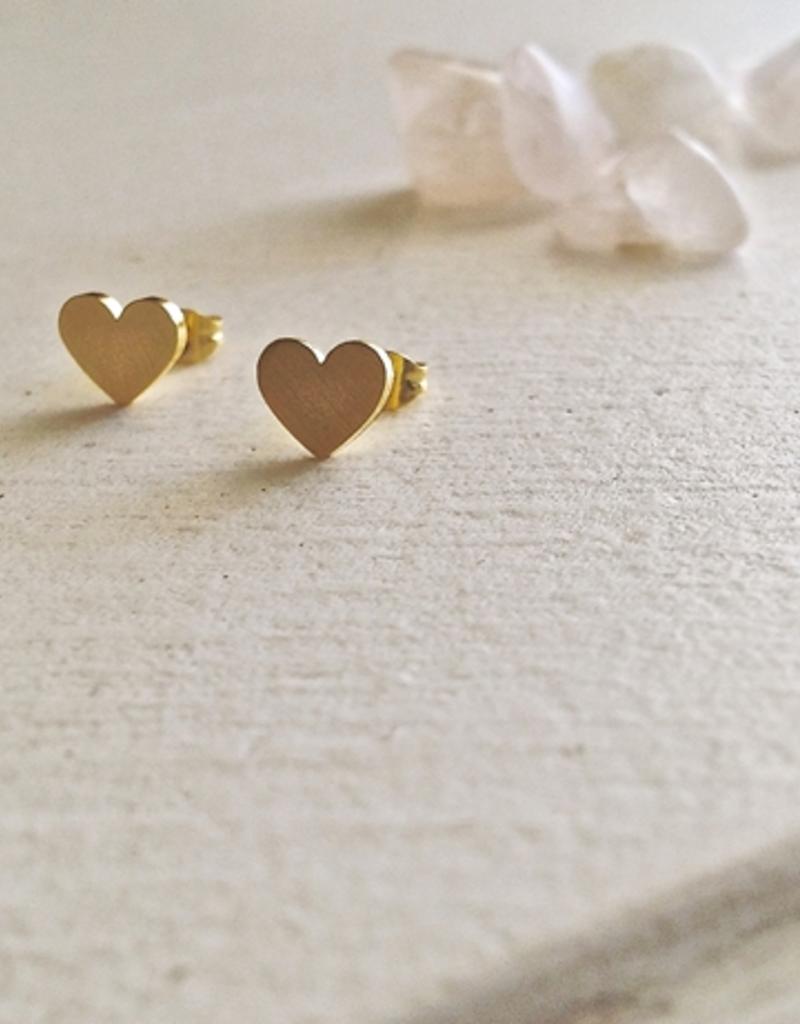 PIKA&BEAR Pika & Bear Earrings 'Total Eclipse of the Heart' Heart Stud