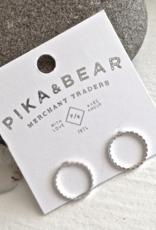 PIKA&BEAR Pika & Bear Earrings 'Chord' Hoop Stud