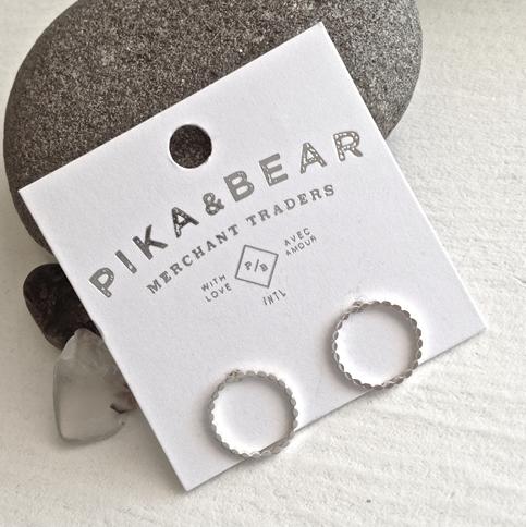 Pika & Bear Earrings 'Chord' Hoop Stud