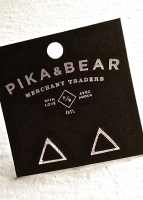 PIKA&BEAR Pika & Bear Earrings 'Triop' Triangle Stud