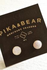 PIKA&BEAR Pika & Bear Earrings 'Zella' Gold Plated Druzy Stud