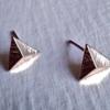 Pika & Bear Earrings 'Isoceles' Pyramid